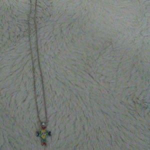 Child's multi colored cross necklace